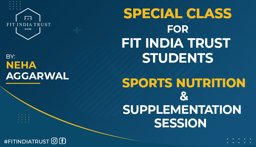 Sports Nutrition and Supplementation session
